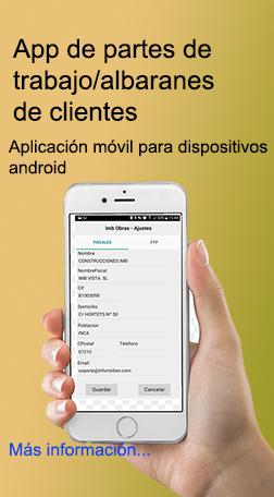 Aplicación móvil para dispositivos android