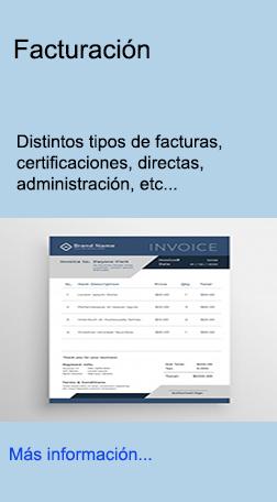 Facturas certificaciones, administración, directas