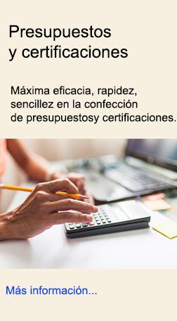 Certificaciones y presupuestos